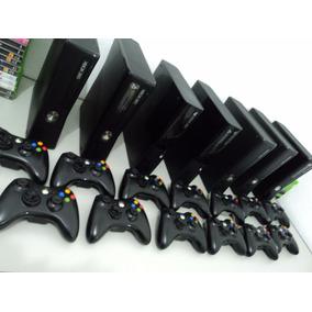 Xbox 360 Slim + 1 Controle + Jogos Originais 12x Sem Juros