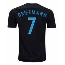Camiseta Francia 7 Griezmann Negra 2017 Ho