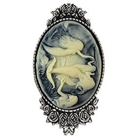 Sirena Princesa Broche Pin Rose Decoración Plata Antigua De