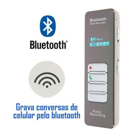 Gravador Espião E Grampo Para Telefone Fixo E Celular