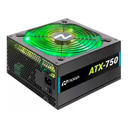 Fuente Pc Gamer 750w Alimentacion Luces Led Noga Atx-750 Rgb