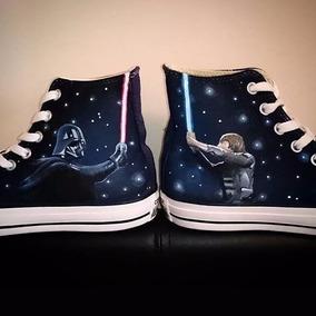 Converse Guerra Galaxias Pintados A Mano