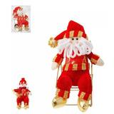 Enfeite De Natal Papai Noel De Mesa Na Cadeira 25cm