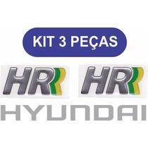 Emblema Hr + Hyunday Kit 3 Peças