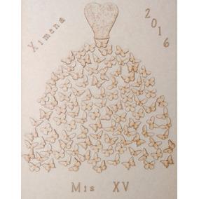 Vestido 105 Mariposas Xv Años Recuerdo Árbol De Firmas Mdf