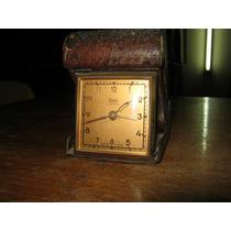 Antiguo Reloj Despertador De Viaje Cuerda 36 Horas