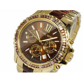 6eca9ccccd947 Relógio Michael Kors Mk5873 Tartaruga Ouro Original + Caixa