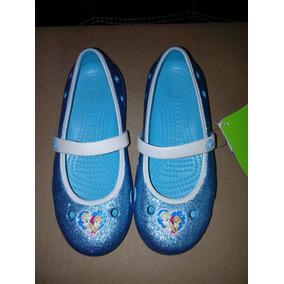 Crocs Frozen Con Glitter Zapatos Frozen 21 Cms Elsa Ana