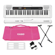 Kit Teclado Casio Tone Ct-s200 Musical 61 Teclas Usb Rosa