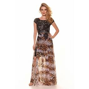 Vestido Festa Fasciniu´s Printed Lace 9721
