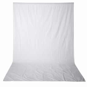 Fondo Telón Muselina 10x20 Ft 3x6 M Blanco Ciclorama