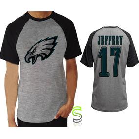 Camisa Camiseta Philadelphia Eagles Jeffery Nfl Raglan 56fd0fad34c0b