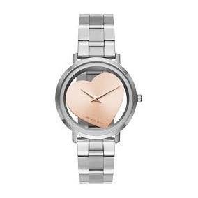 Relógio Michael Kors Mk3620 Coração Luxo Silver 12x S/j