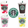 Funda Silicona Animada 3d Vaso Starbucks Ipad 2 3 4 Mini 2 3