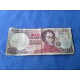 Billete De Venezuela De 5000 Bolivares Del 14 / 3 De 1996