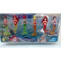 Kit 6 Bonecas Pequenas Sereias Ariel Sereia Disney