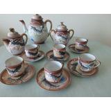Jogo Completo De Café.porcelana Chinesa/ Casca De Ovo