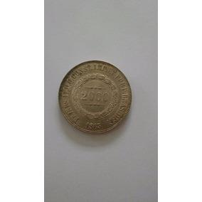 Moeda 2000 Réis Prata 1863