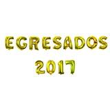 Combo X 13 Globos Metalizados 40 Cm Egresado 2017