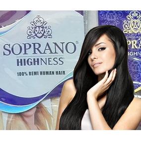 Extensiones Soprano Highness 100% Humano Oscuros 18pulg