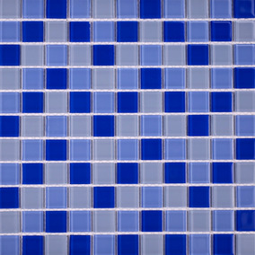 Pastilha De Vidro Azul Cristal Alto Brilho