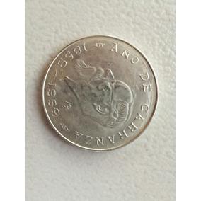 Moneda De $5.00 Carranza Conmemorativa 18591959