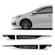 Par De Aplique Lateral Corolla 2015/2019 Emblema Resinado