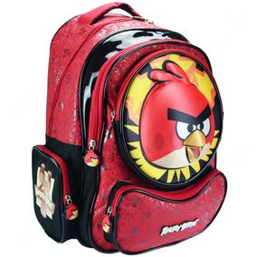Mochila Escolar Angry Birds Abm503103 De Costas 3d Santino