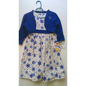 Vestido Chersi Niña, Azul Rey, Talla 3x Nuevo Suburbia