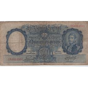 Billete Argentina $500 A.1953 Colo 512b F-