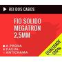 Fio Solido Rigido Megatron 2,5 Mm Rolo Com 100 Metros