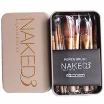 Kit Pincel Maquiagem 12 Pçs Naked 3 Pronta Entrega + Brinde