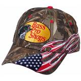 Gorra Camuflada Americana Flag Marca Bass Pro Shops