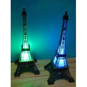5 Centro De Mesa 15 Años Torre París Con Led Medida 18 Cm