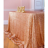 Shinybeauty 60x120-inch Rectangular Sequin Tablecloth-rose G