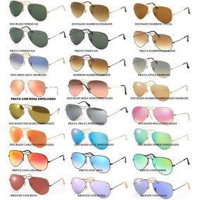 Óculos De Sol Aviador 3025 Ou 3026 Unissex Com Nota Fiscal
