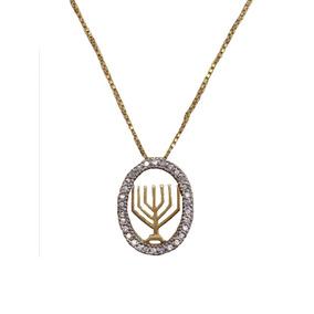 Colar Candelabro Judaísmo