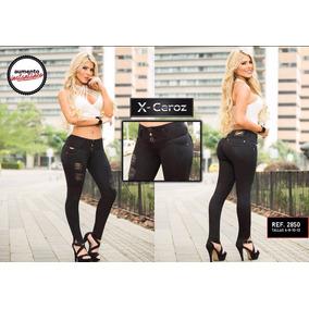 Pantalones Jeans Corte Alto X-ceroz De Dama Levanta Cola