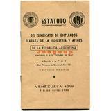 Estatuto Sindicato Empleados Textiles De La Industria 1965