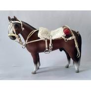 Miniatura Cavalo Crioulo Resina Encilhado
