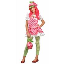 Disfraz Strawberry Shortcake Talla Mediana Niña Aprox 8-10