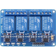 Modulo Relay Rele De 4 Canales 5v 10a Arduino Pic Avr