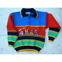 Sweater Pullover Buzo Lana Nena Varon 6 Y 4 Años Ropaniña00