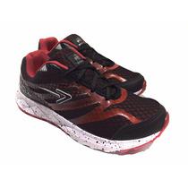 Zapatilla Hombre Deportiva Running Fit Sports Rojo