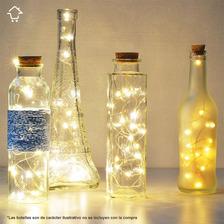 Luces Micro Led Decoración Luz Alambre Pilas Alambrito Led