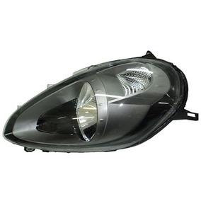 Farol Fiat Punto Mascara Negra Com Cinza 2012 13 14 L. Esq.