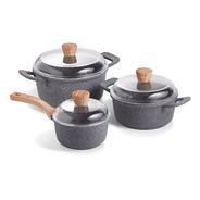 Maestro De Cocina- Set Granito Cacerolas 20 & 24cm + Salsera