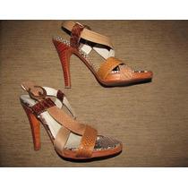 Sandalia Zapato Cuero Víbora