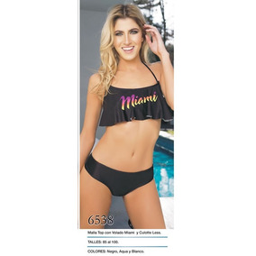Bikini Top Con Volado Miami. Natubel Verano 2017 Liquidamos!