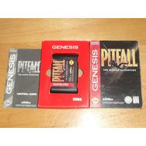 Raro Pitfall C/ Caixa Papelão Sega Mega Drive Genesis Americ